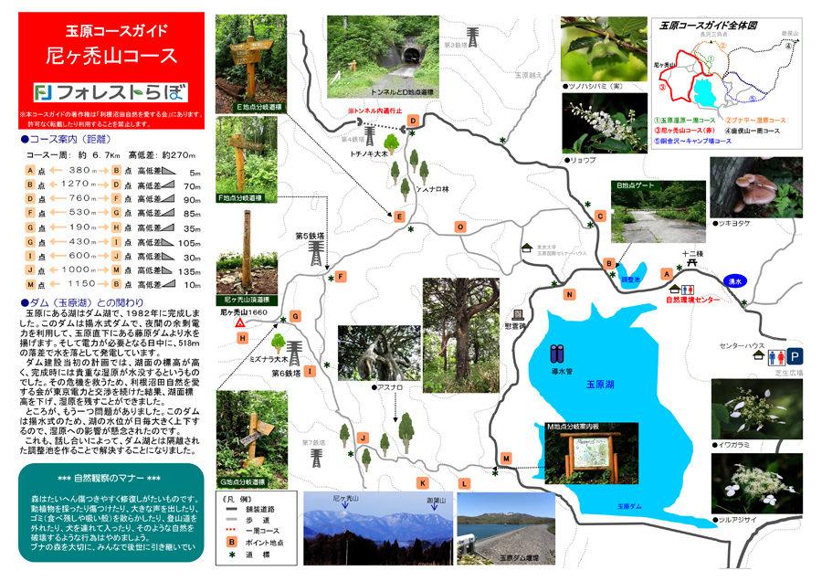 尼ヶ禿山一周コースの地図